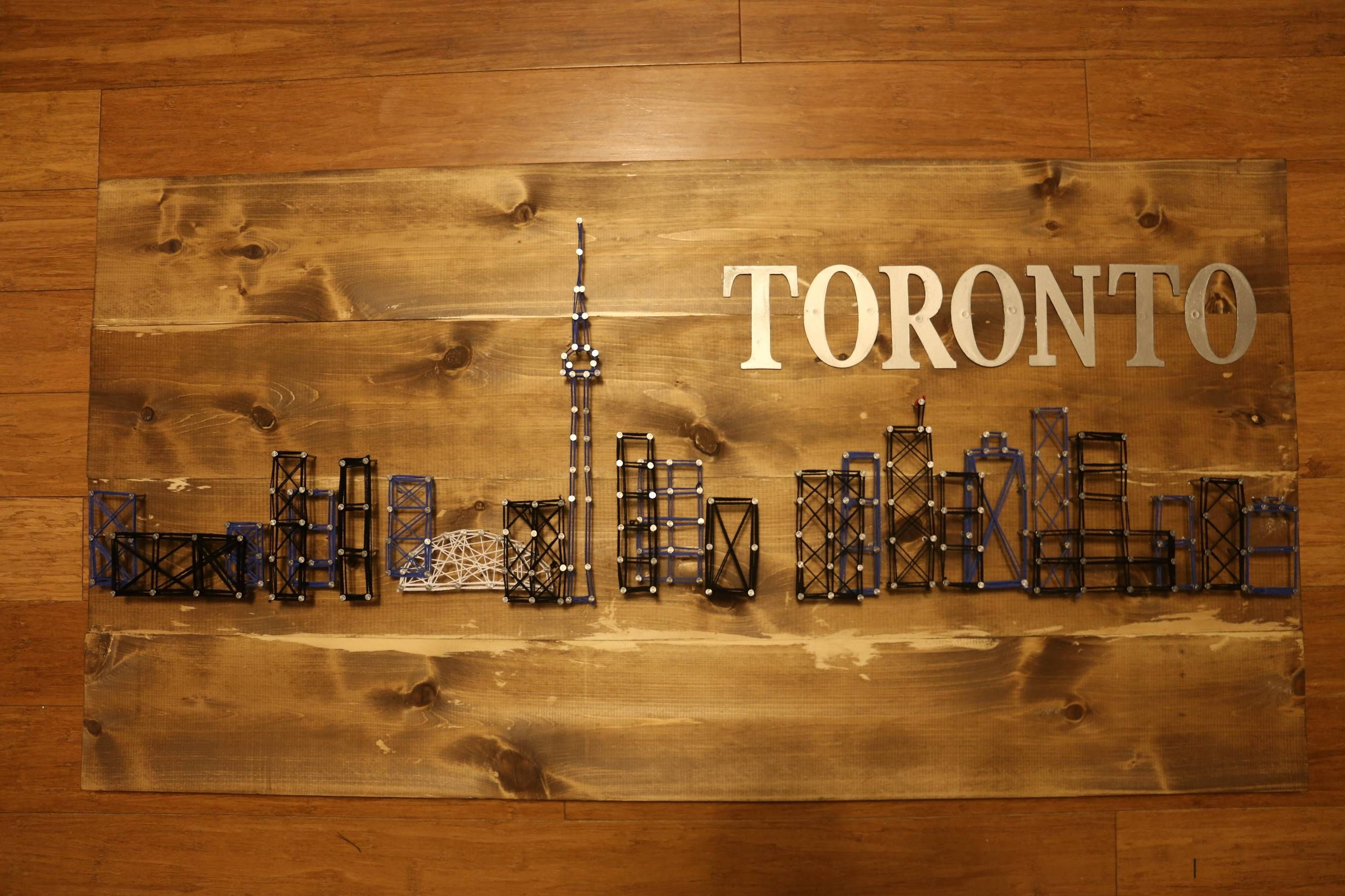 Toronto skyline string art quickcrafter best of diy toronto skyline string art quickcrafter solutioingenieria Image collections