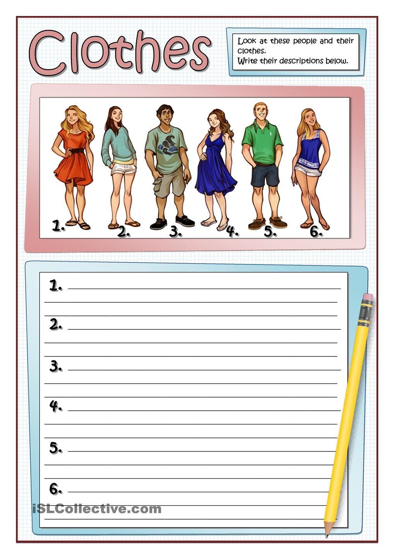 DESCRIBING CLOTHES 1 Educacion, Secundaria, Ingles