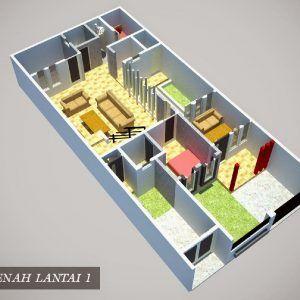 8 denah rumah 3 kamar ukuran 7x9 paling dicari | desain