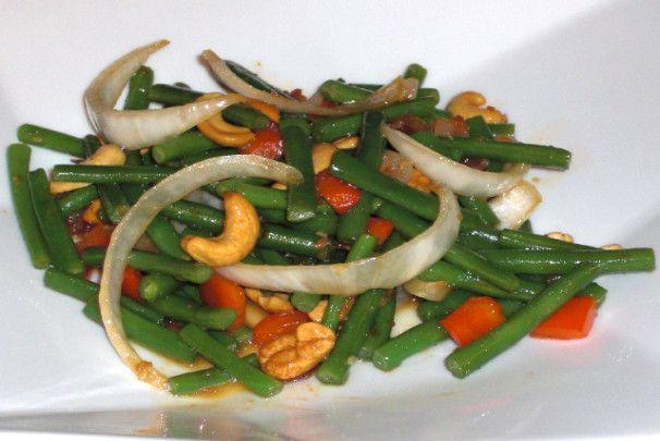 Green beans w cashews