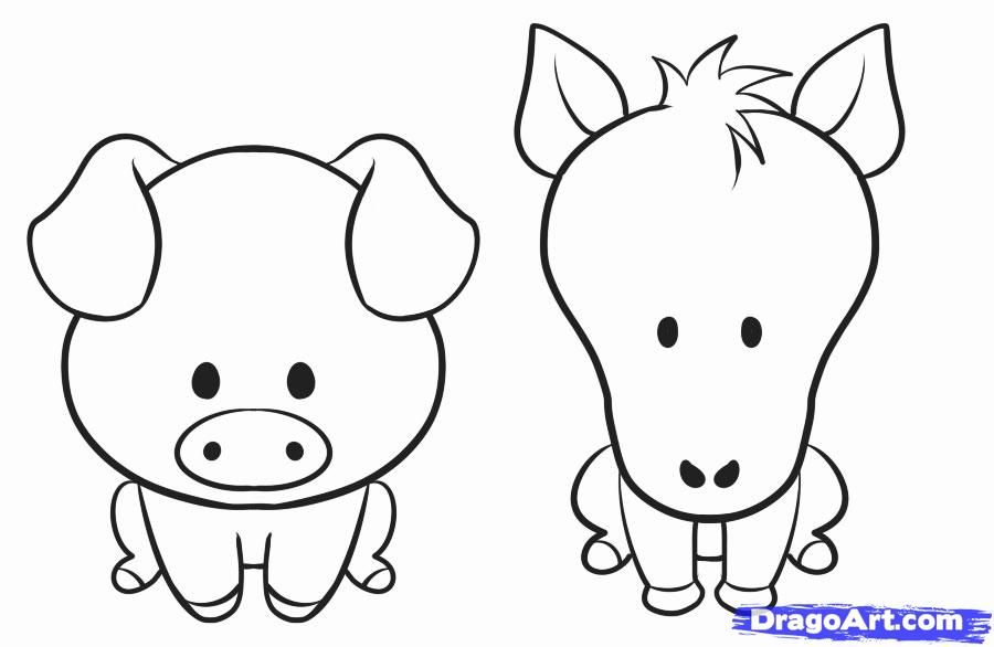 Image of: Kids How To Draw Simple Animal Step By Step Farm Animals Animals Free Online Drawing Tutorial Added By Dawn August 26 2010 22036 Am Pinterest How To Draw Simple Animal Step By Step Farm Animals Animals
