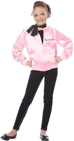 Kids The Pink Satin Ladies Costume #decadesdayspiritweek