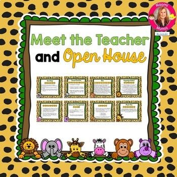 Jungle Themed Meet the Teacher and Open House EDITABLE PowerPoint - new jungle powerpoint template