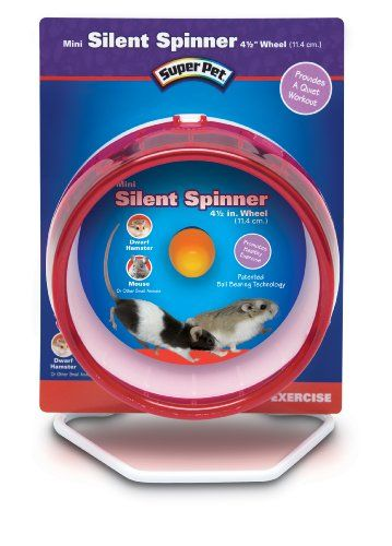 9 97 12 99 Super Pet Mouse Silent Spinner 4 1 2 Inch Mini Exercise Wheel Colors Vary Silent Spinner Mini Is The Wonderful Whi Hamster Care Pets Pet Mice