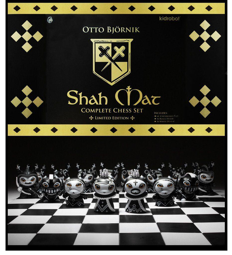 Shah Mat Chess Series with Pawn Otto Bjornik Knight Black Kidrobot