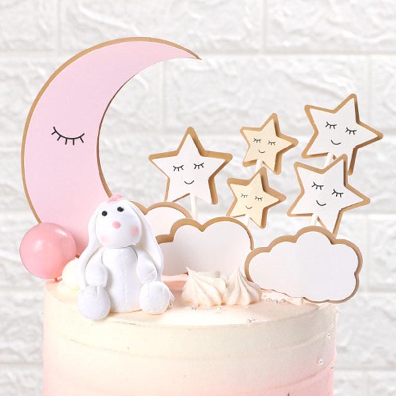 1 set DIY Kids Happy Birthday Theme Cartoon Cake Topper Party Cake Baking Decor