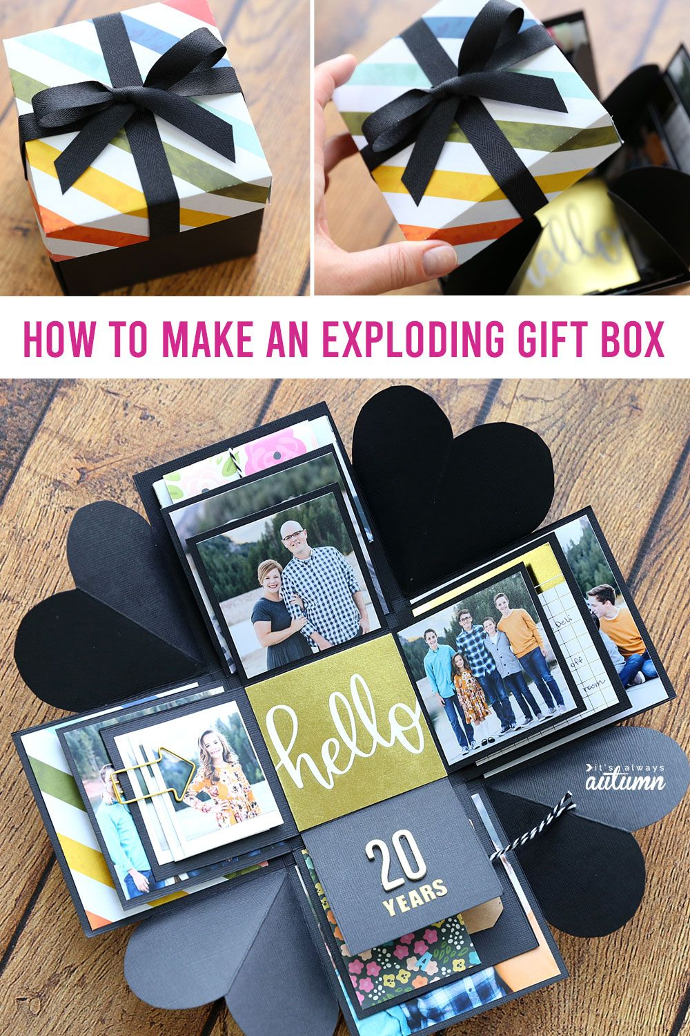 How to make an Explosion Box {cheap, unique DIY gift idea!} - It's Always Autumn