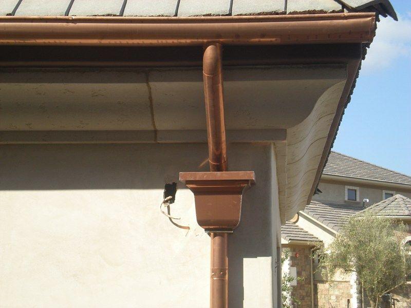 Copper Gutters Guttering System Orange Laguna Beach Ca Copper Gutters Gutters Candle Sconces