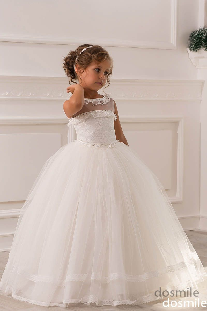 Find More Flower Girl Dresses Information about Lace Crystals ...