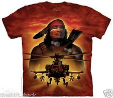 Apache Warrior 4016 mountain tshirt helicopter indian native american military