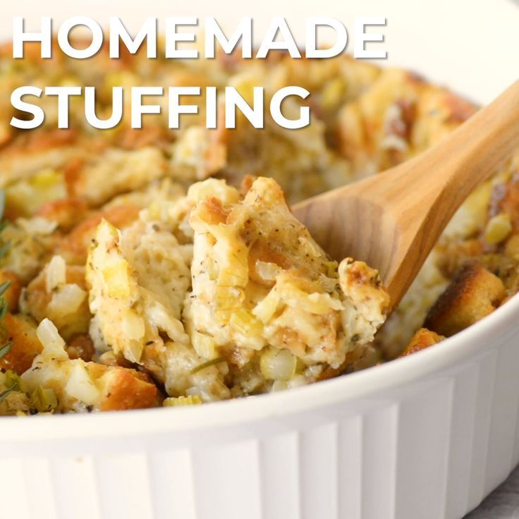 Classic Traditional Homemade Stuffing Recipe   Cre