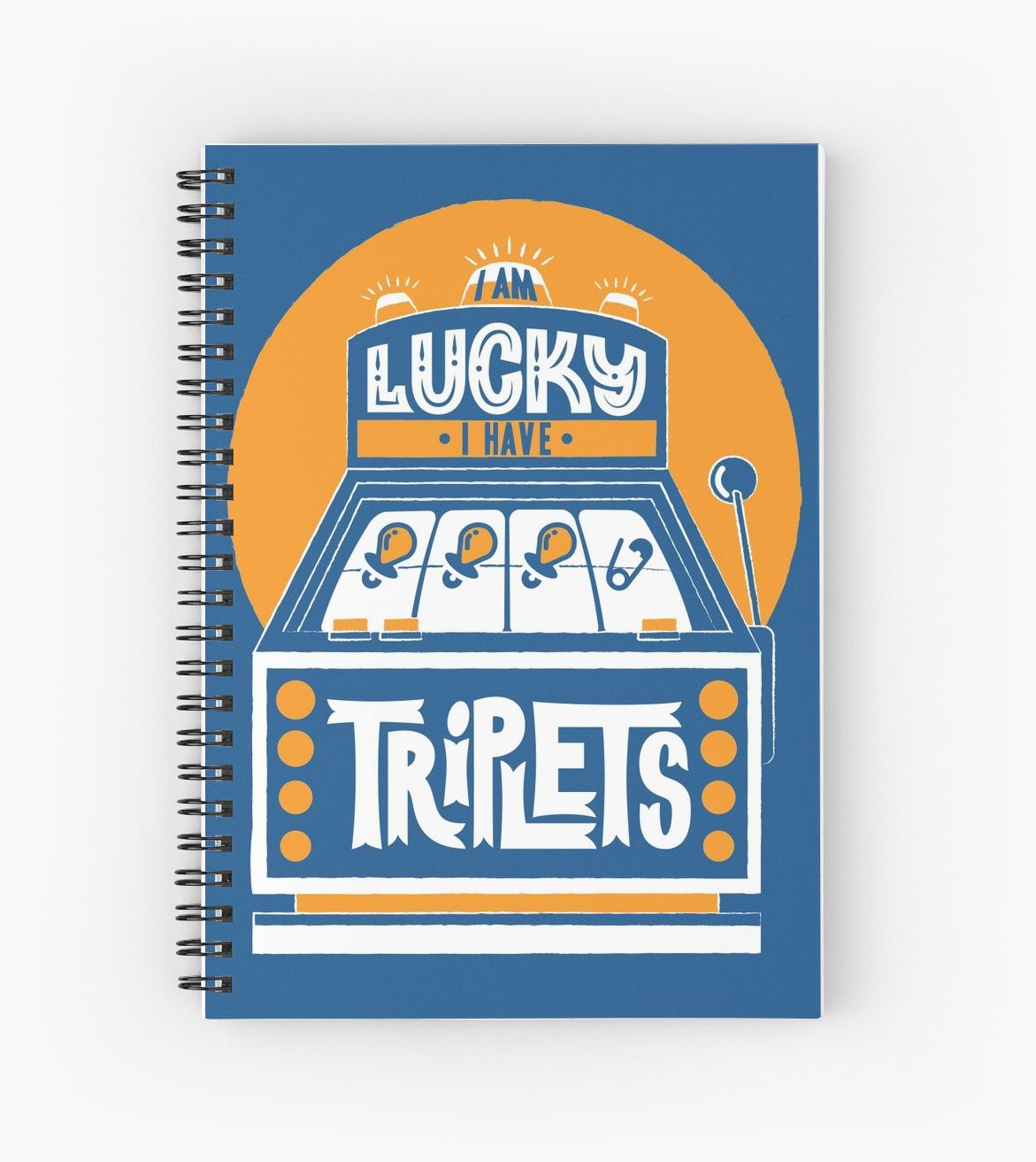 I am Lucky! I have Triplets!  by multiplesandmore  Twin books journal writing gifts