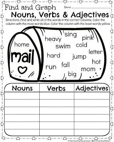 1st Grade Math and Literacy Worksheets for February | First Grade ...