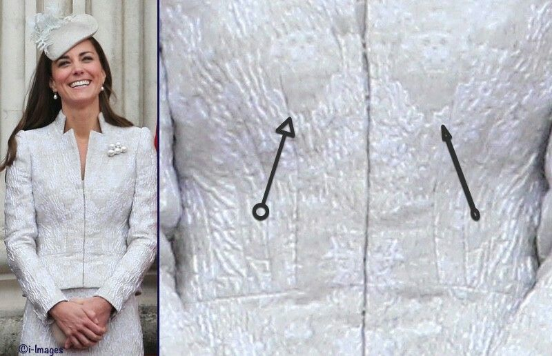 Kate has actually embraced the skull (said with tongue in cheek) before, including in the McQueen suit worn for Trooping the Colour 2014, where the skull is visible in the jacquard pattern.