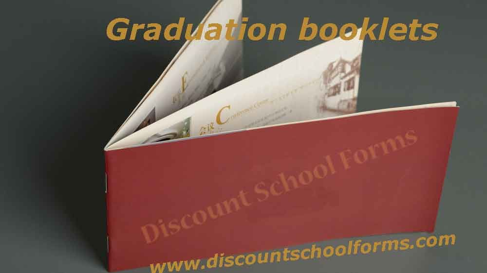 Online Graduation Booklet Printing Full Color Booklets In Discount School Forms Http Www Discountschoolforms Com Gradu Brochure Print Booklet School Forms