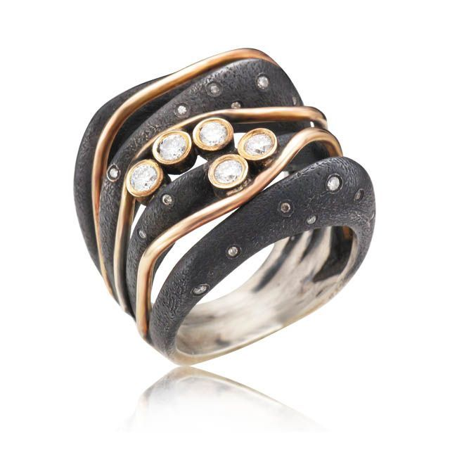 One of a kind ring at Spectrum Art Jewelry Susan Barlow Jewelry