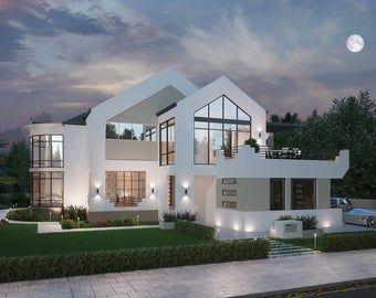 4 Bedroom house plans 2960 Sq Foot (272 m2) Sunken Lounge + 4 Bedroom  + Study Nook House Plan |  4 bed house plans On Sale Today!