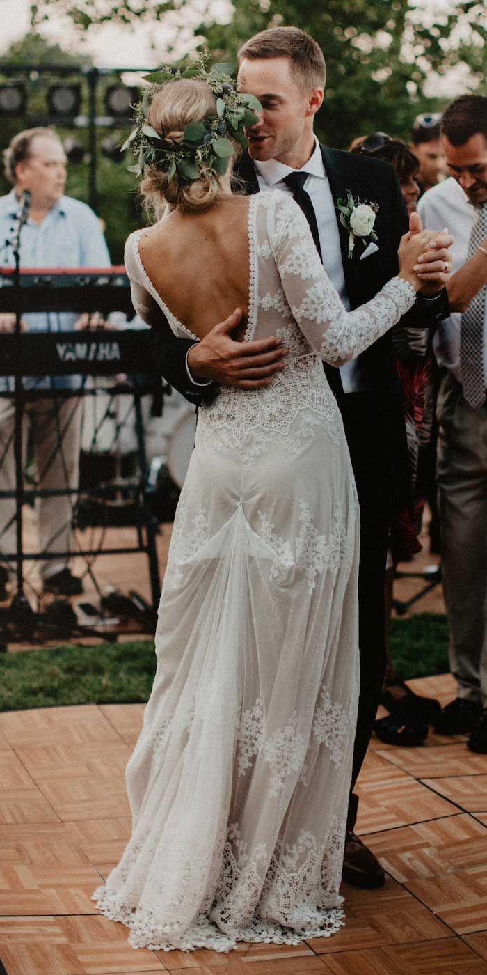 charmante trouwjurken, boho trouwjurken, lange mouw trouwjurken, we …