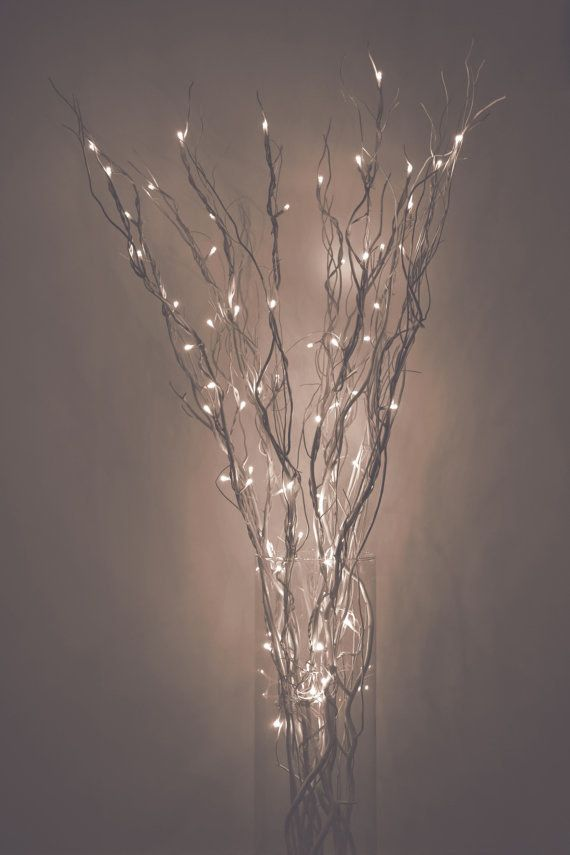 Turn Your Home Into A Mystical Fairy Woodland With These Light Up Branches Branch Decor Lighted Centerpieces Light Decorations