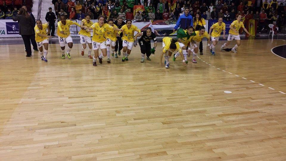 Celebración de las mejores del planeta en el futsal.