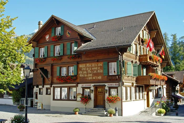 Post Hotel Roessli Gstaad Switzerland Map of great food and