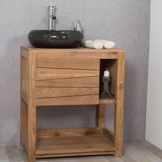 Meuble de salle de bain en teck cosy 67cm Salle de bain - meuble salle de bain fer forge