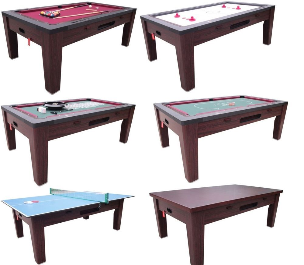 6 in 1 combo game table pool air hockey ping pong roulette poker, Esstisch ideennn