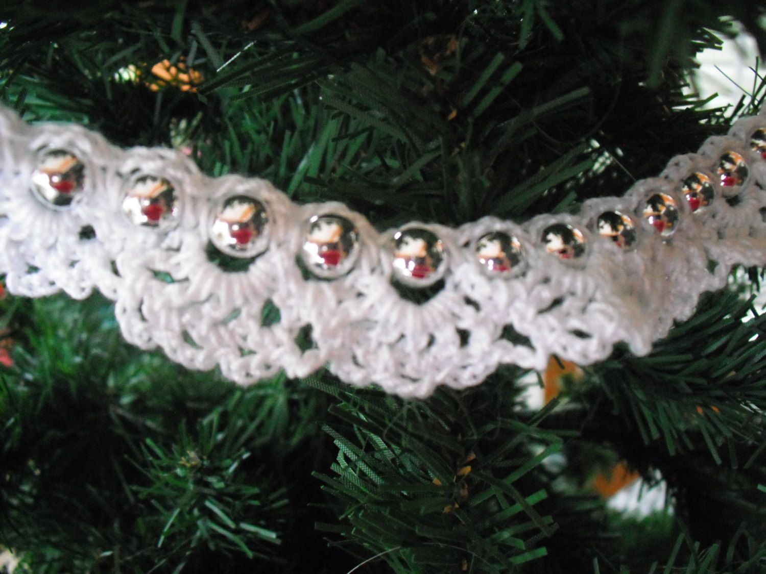Christmas tree garland by StitchWitchWorks on Etsy