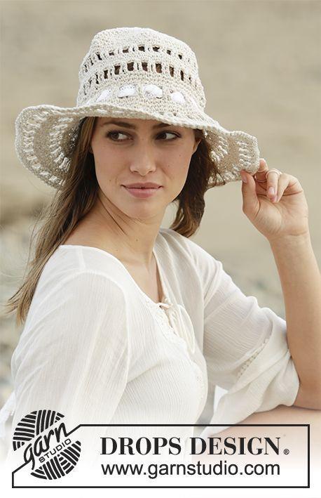Sombrero en ganchillo con patrón de calados, trabajado de arriba ...