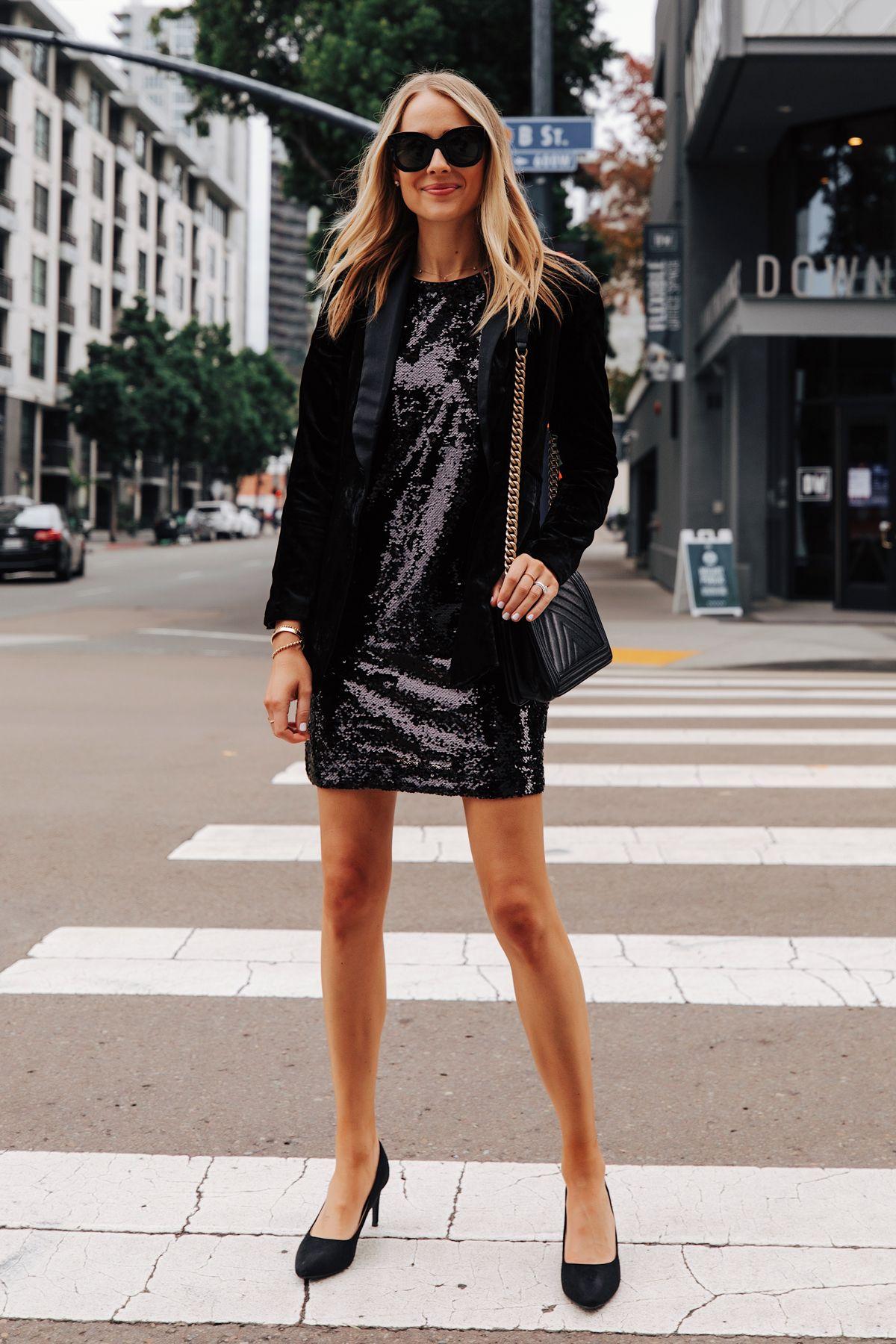 Fashion Jackson Wearing Walmart Black Velvet Blazer Black Sequin Dress Black Pumps Fashion Jackson Fashion Outfits [ 1800 x 1200 Pixel ]