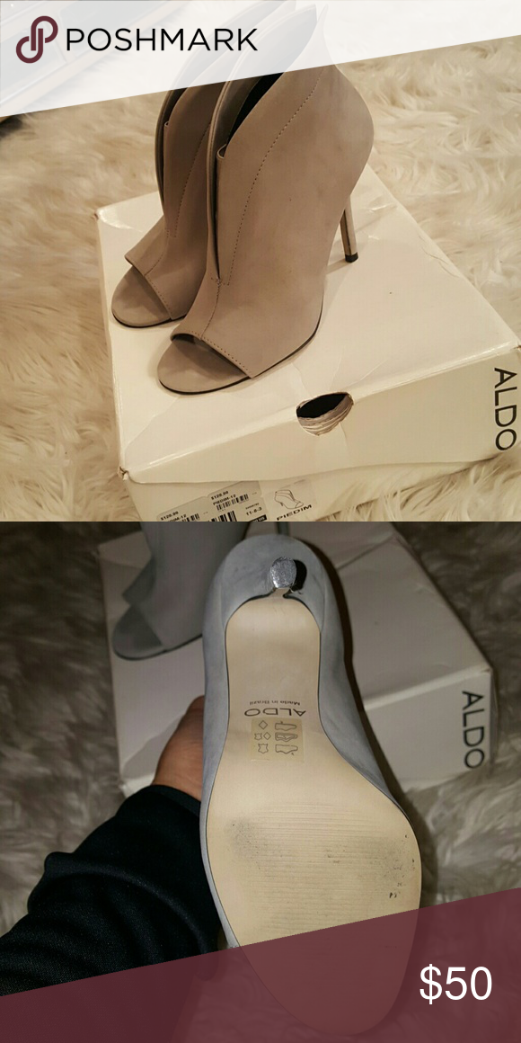 Gray Peep Toe Aldo Heels Gray Peep Toe Aldo Heels Worn Once Aldo  Shoes Heels