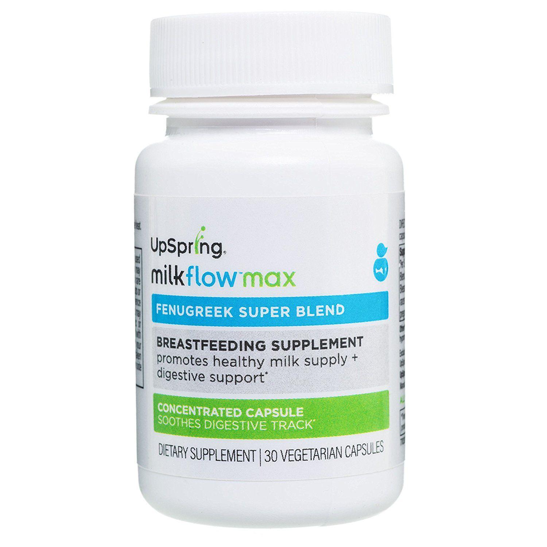 Upspring Milkflow Max Fenugreek Shatavari To Support Lactation And Aid Digestion Breastfeeding Supplements Milk Supply Baby Weight