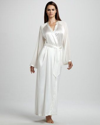 35309b873 Vestaglie Long Silk Robe Neutral. White silk robe (long). Step into your  walk-in custom closet in style!