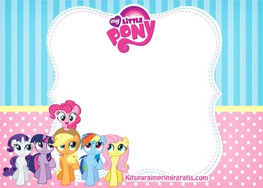 Etiquetas My Little Pony Stickers My Little Pony Marcos Para