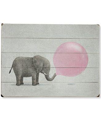 Artehouse Jumbo Elephant with Bubble Gum Wall Art