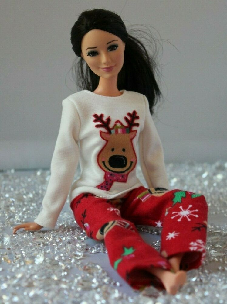 Flannel Pajamas for Dolls. №142 Clothes for Barbie Doll