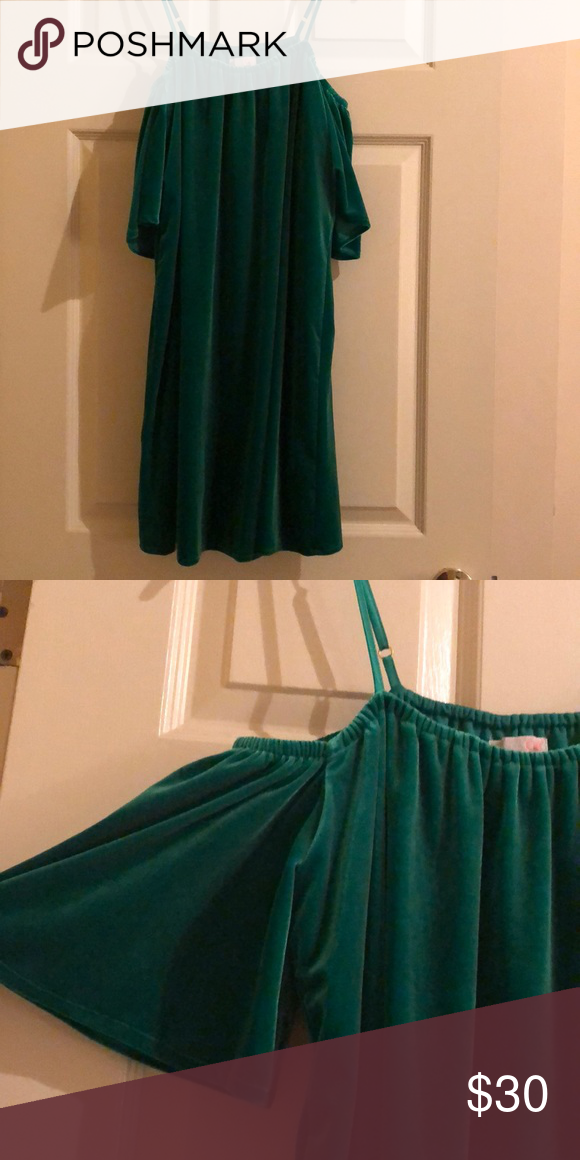 67bfecb780 Velvet party dress Perfect dress for the holidays! Off the shoulder velvet  mini dress. Flowy fit! Gianni Bini Dresses Mini