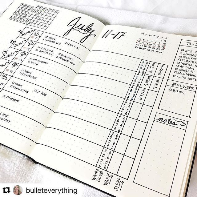 Check out this hard working #weeklyspread from @bulleteverything. It's a new account dedicated to #bulletjournaling obviously :blush: check her out! ・・・ My first weekly #bulletjournal spread! :pen_fountain: I think it still needs something more but I don'