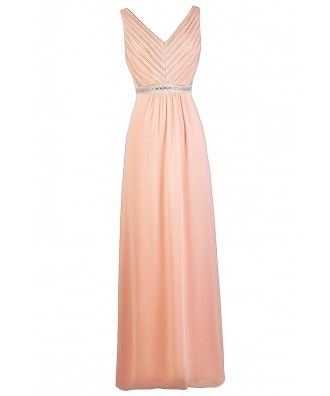 3c9829b56f3 Always A Bridesmaid Embellished Maxi Dress in Pink