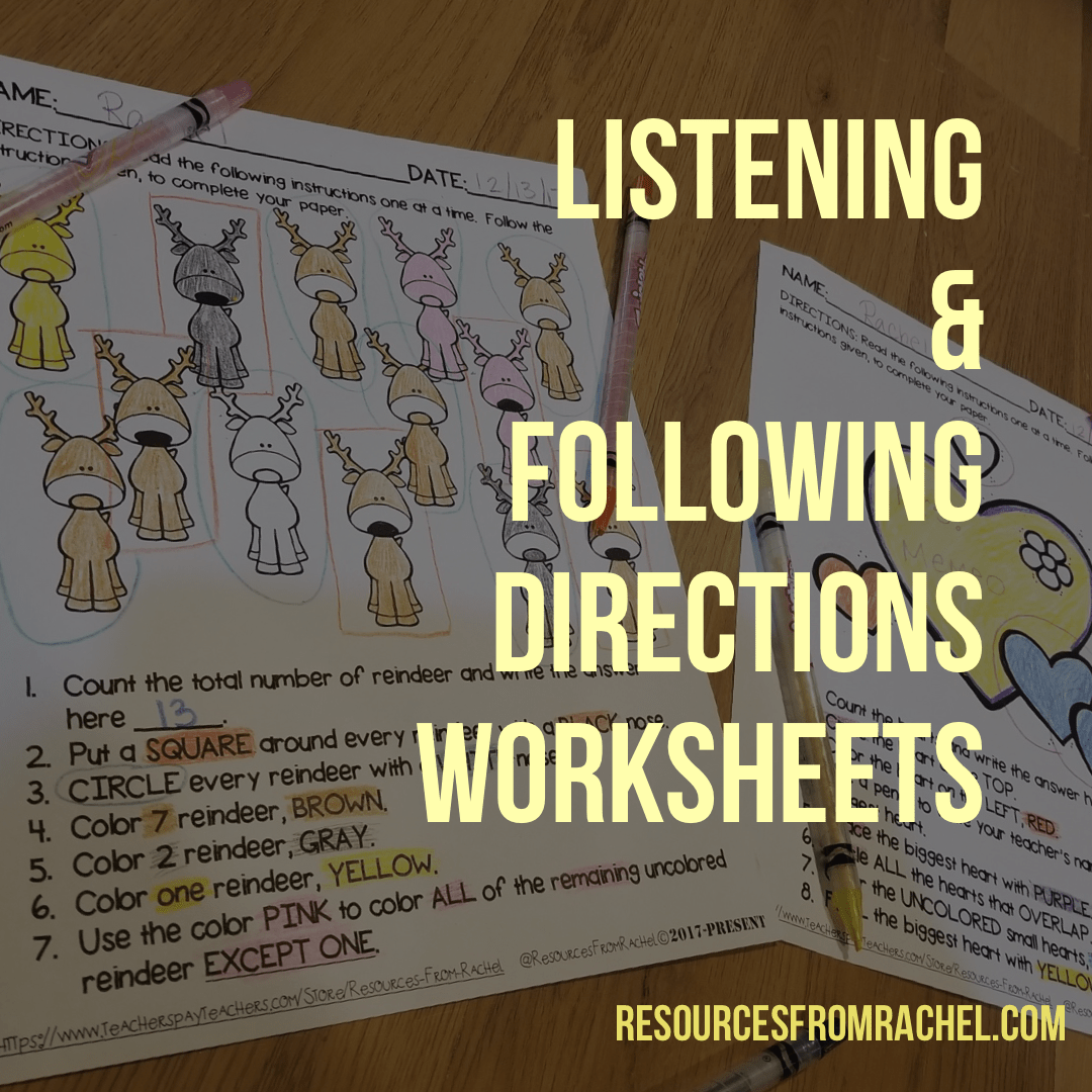 Listening And Following Directions Activities With Images