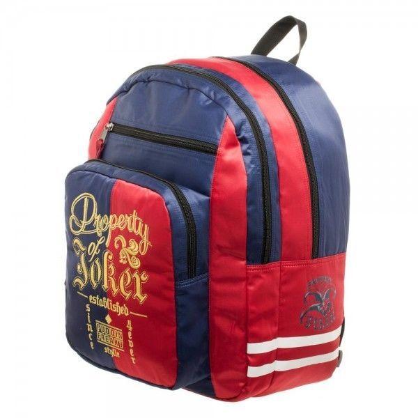 c451262f22 Harley Quinn Suicide Squad Property Of Joker Backpack Bag Authentic