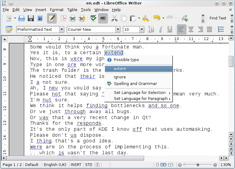 LanguageTool is an Open Source proofreading software for