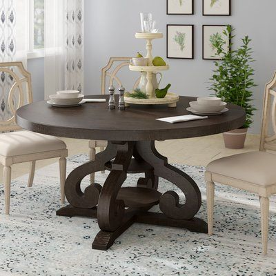Three Posts Hot Springs Solid Wood Dining Table Contemporary
