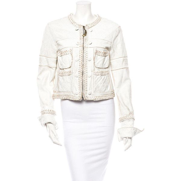 Pre-owned Just Cavalli Leather Jacket