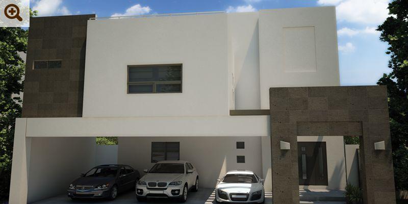 Fotos e im genes de fachadas de casas contempor neas y for Modelos de casas en mexico