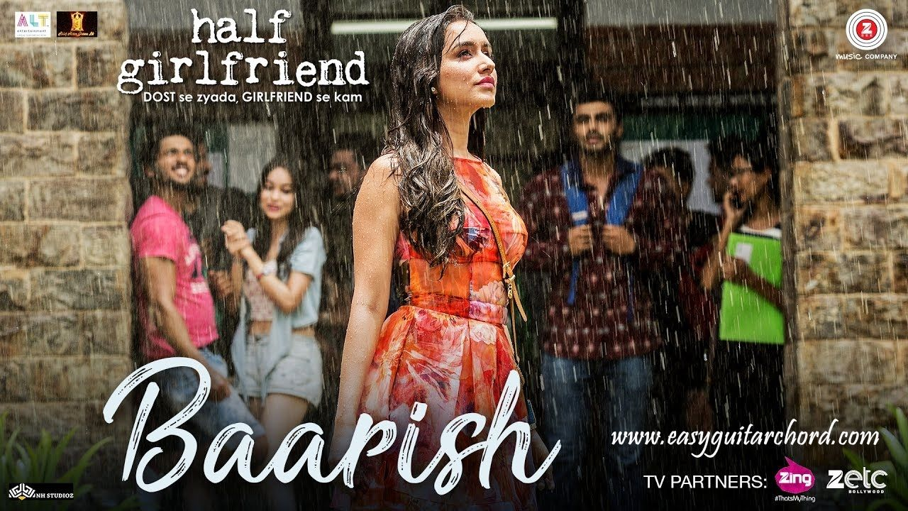 Baarish Guitar Chords Half Girlfriend Arjun Kapoor Shraddha