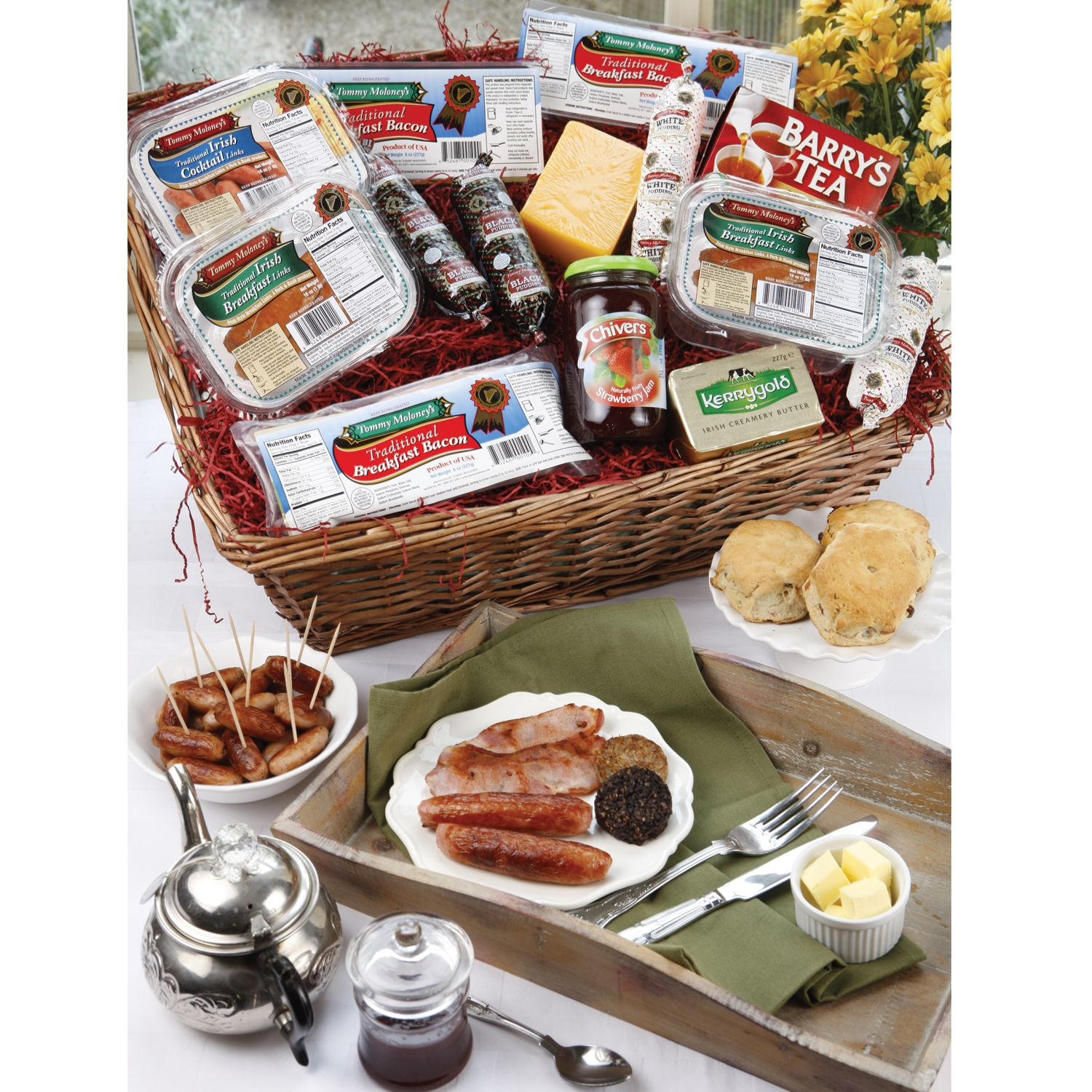 Deluxe family breakfast basket to usa only irish recipes