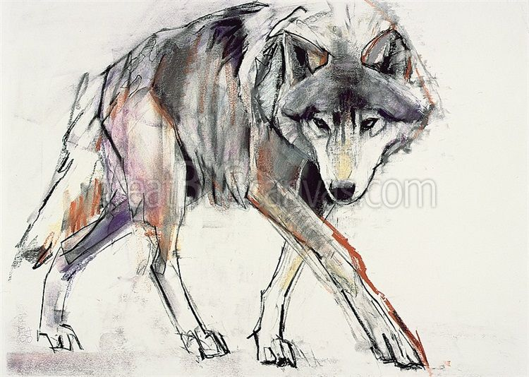 http://www.greatbigcanvas.com/zoom/wolf-mixed-media-on-paper,1049141/