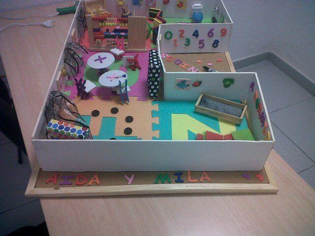 Aiida01 trabajo de la maqueta de guarderia for Maquetas de jardines