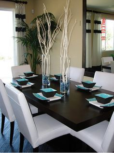 Fancy Turquoise Dining Room Ideas For Interior Decor Home With